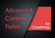 Advanced Custom Fields for ClassiPress Plugin